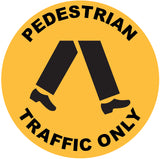 Pedestrian Traffic Only Decal