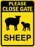 Please Close Gate Sheep Sign