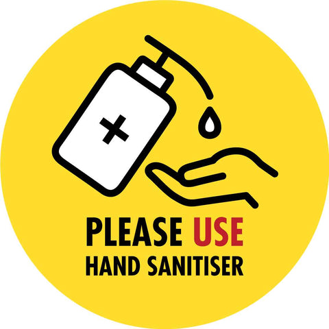 Please Use Hand Sanitiser Yellow Decal