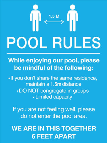 Pool Rules 5 Sign