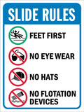 Pool Slide Rules Sign