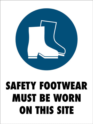 Safety Footwear Site Sign
