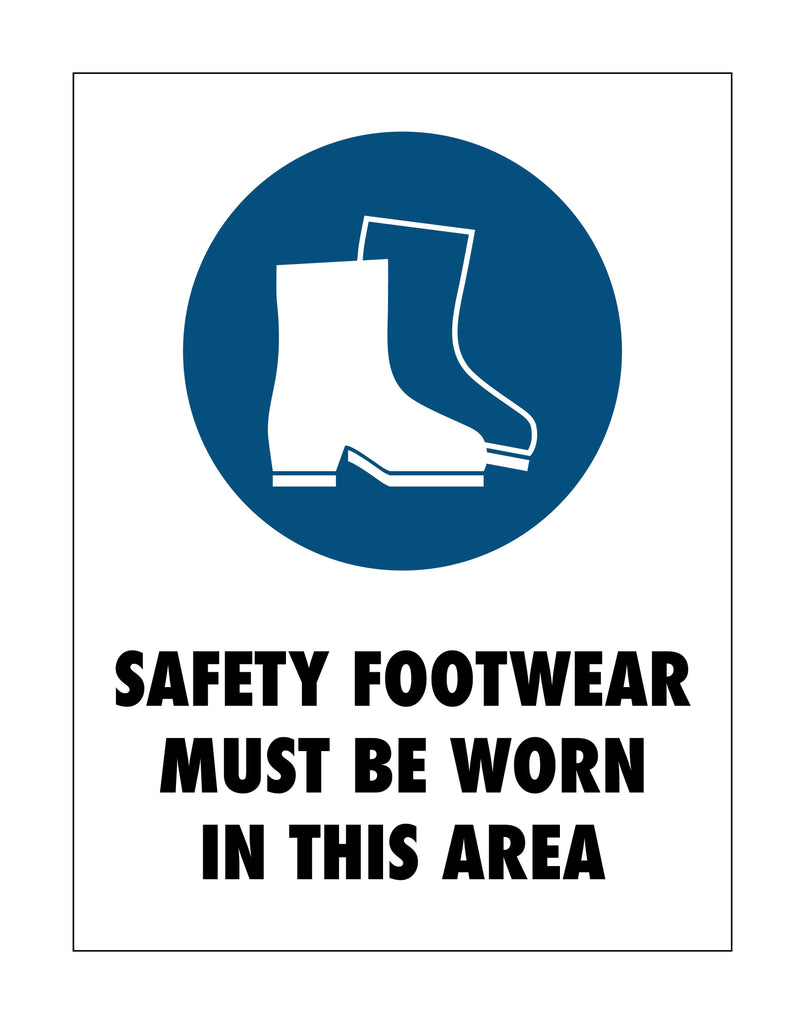Safety Footwear Area Sign