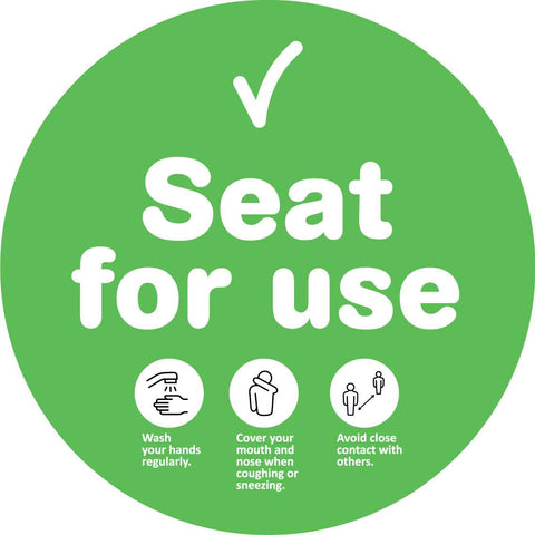 Seat For Use Green Decal