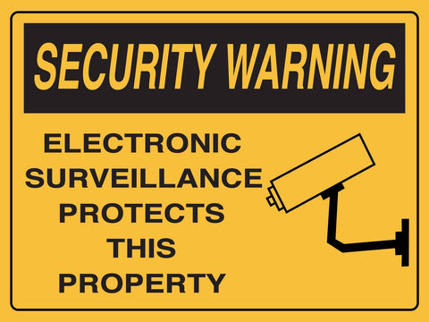 Security Warning CCTV Sign