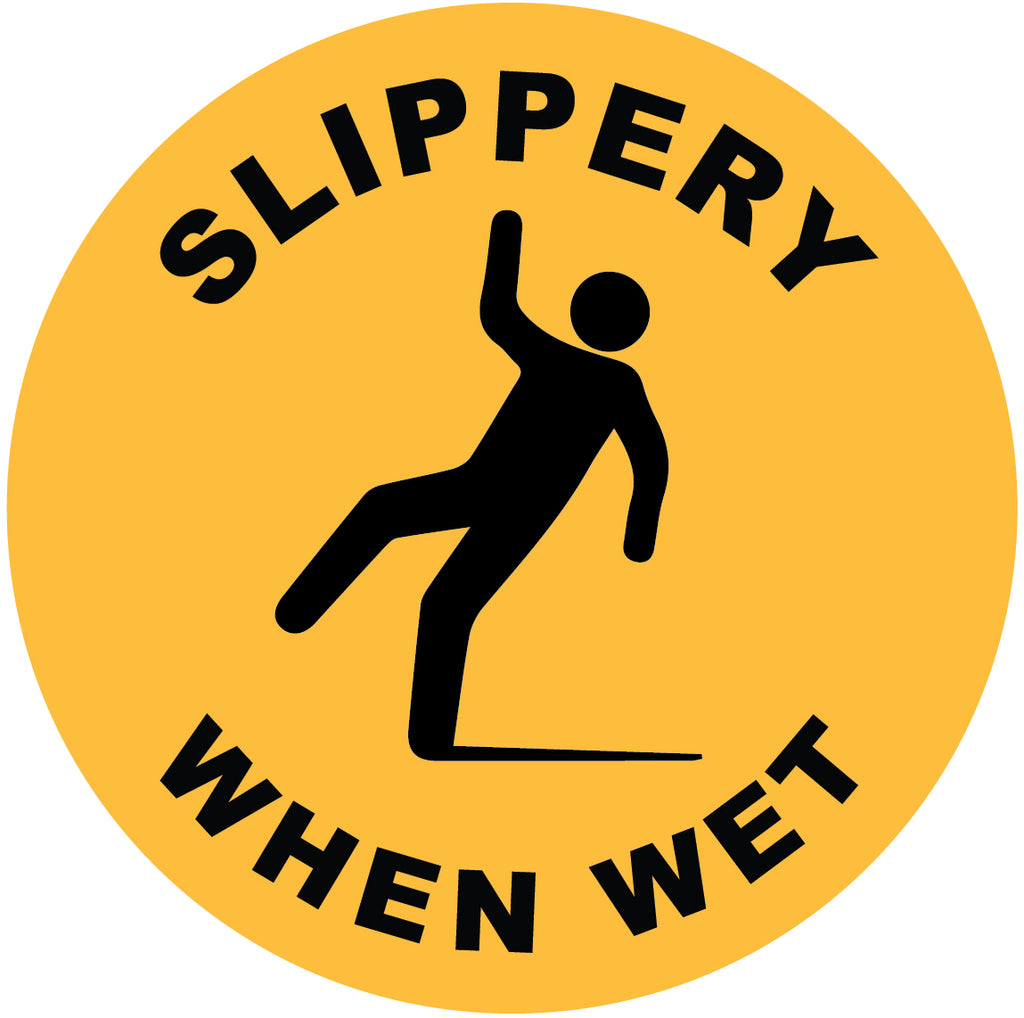 Slippery When Wet Decal