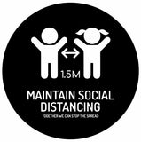 Social Distancing Kids Floor Sticker - Anti Slip
