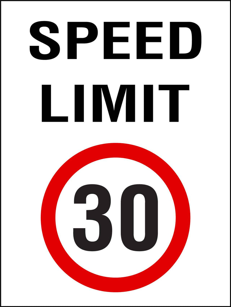 Speed Limit 30km Sign
