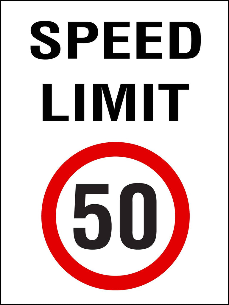 Speed Limit 50km Sign