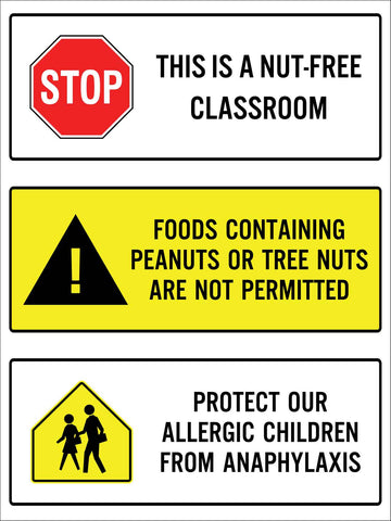 Stop This is A Nut-Free Classroom Sign