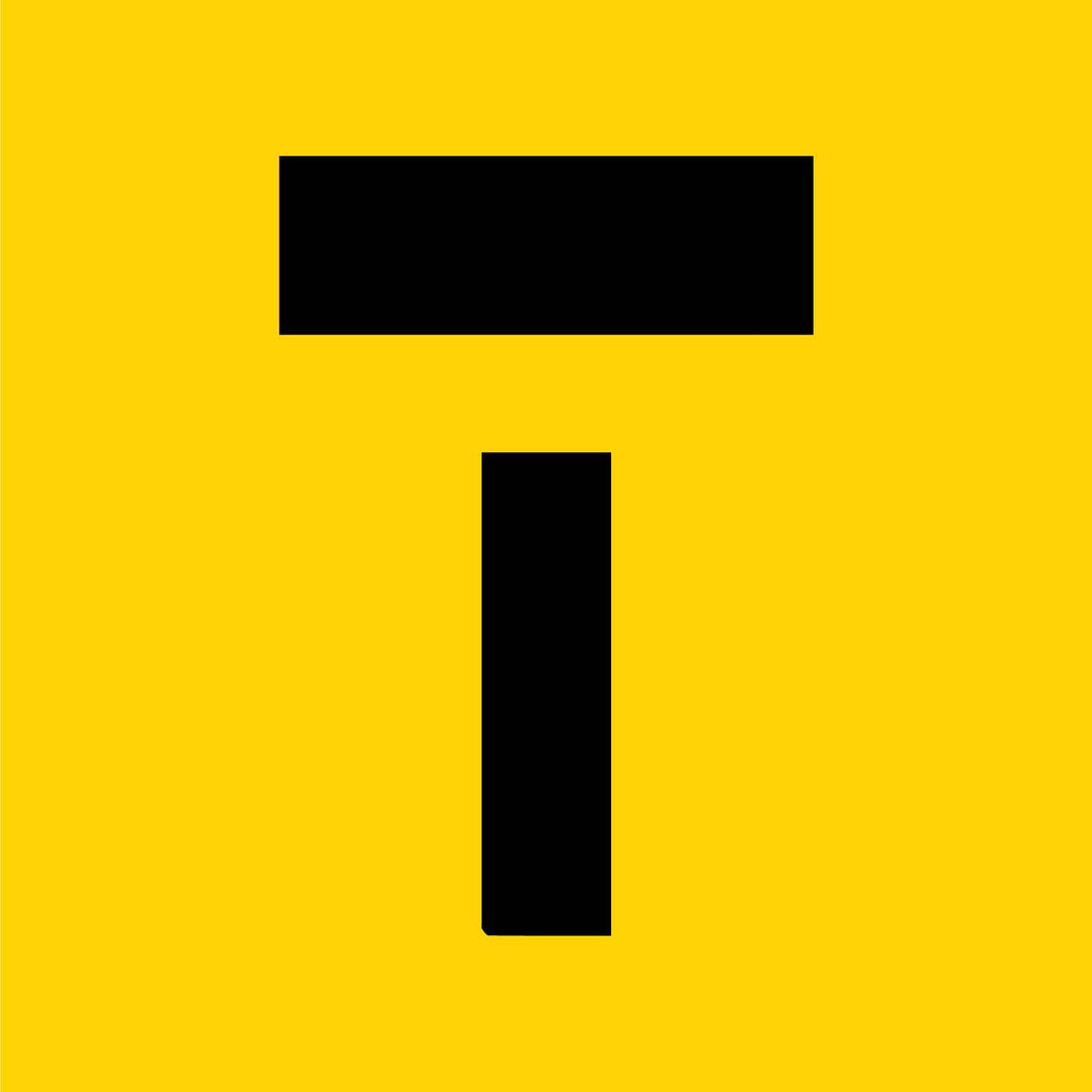T Symbol Multi Message Reflective Traffic Sign