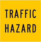 Traffic Hazard Use Multi Message Reflective Traffic Sign