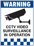 Warning CCTV Video Surveillance In Operation Sign