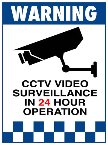 Warning CCTV Video Surveillance Sign