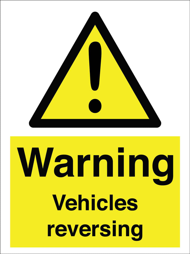 Warning Vehicles Reversing Sign