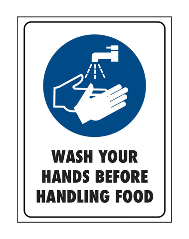 Wash Your Hands Before Handling Food Sign