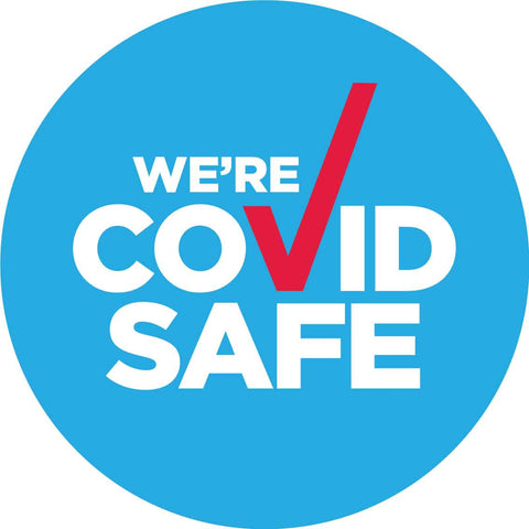 We're Covid Safe Decal