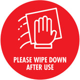 Wipe Down Red Decal