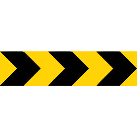 Yellow Black Bold Arrows Long Skinny Multi Message Reflective Traffic Sign
