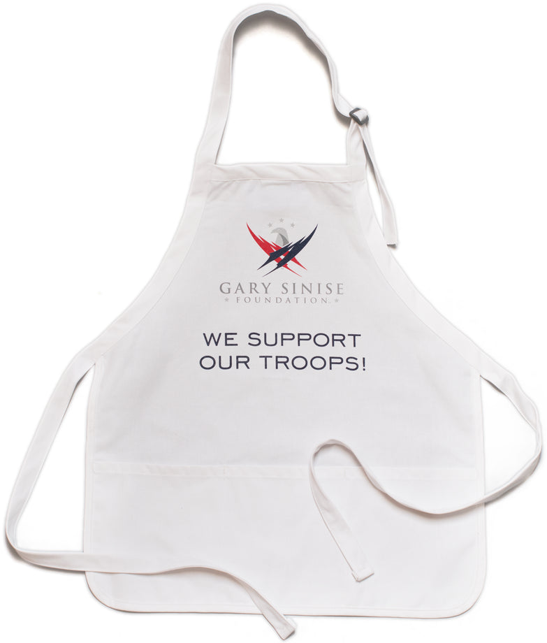 """We Support Our Troops"" Kitchen Apron"