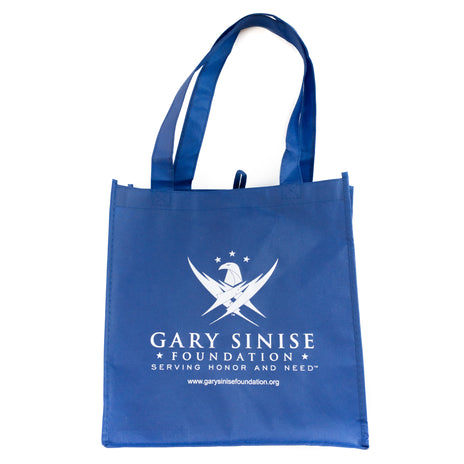 Blue Tote Bag with Logo