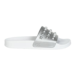 Franco White Slides - Metallic Jelly
