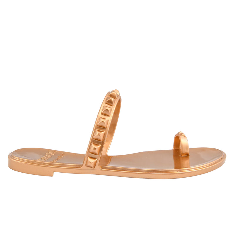 Maria Flat Sandal - Metallic Jelly