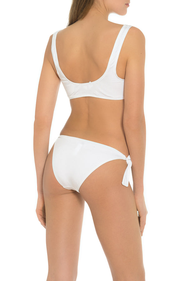 White Bathing Suit Bottom Made in Italy