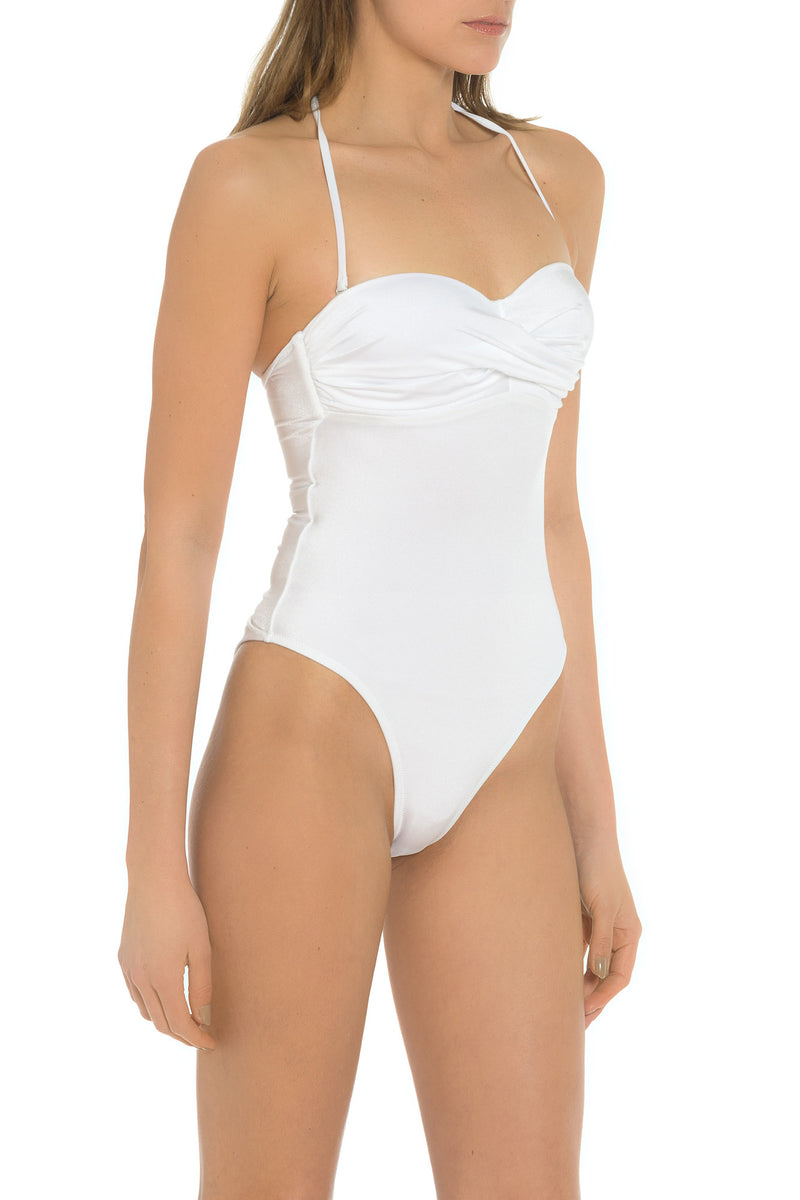 White One Piece Bathing Suit Made In Italy