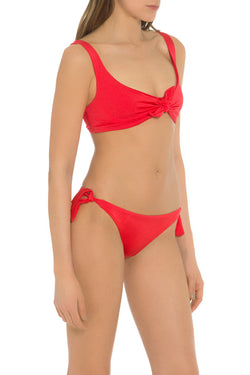 Red Bathing Suit Top Made in Italy