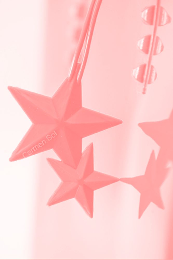 Baby Pink Jelly Bag Charm star rose scented falling star