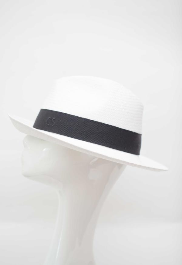 Fedora Hat Made In Italy White Black Band Packable