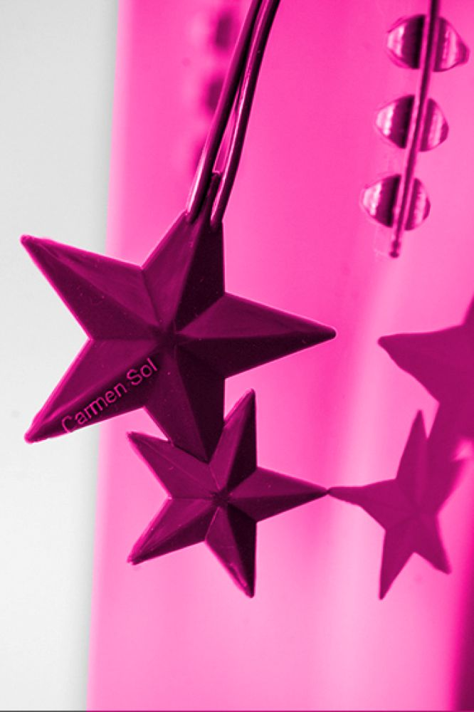 Fuschia Jelly Bag Charm star rose scented falling star