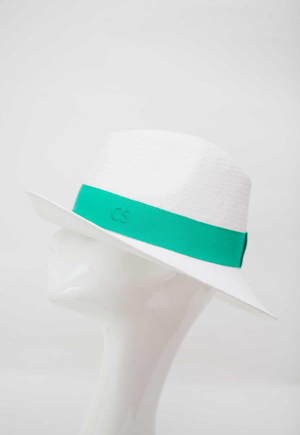 Fedora Hat Made In Italy White Green Band Packable