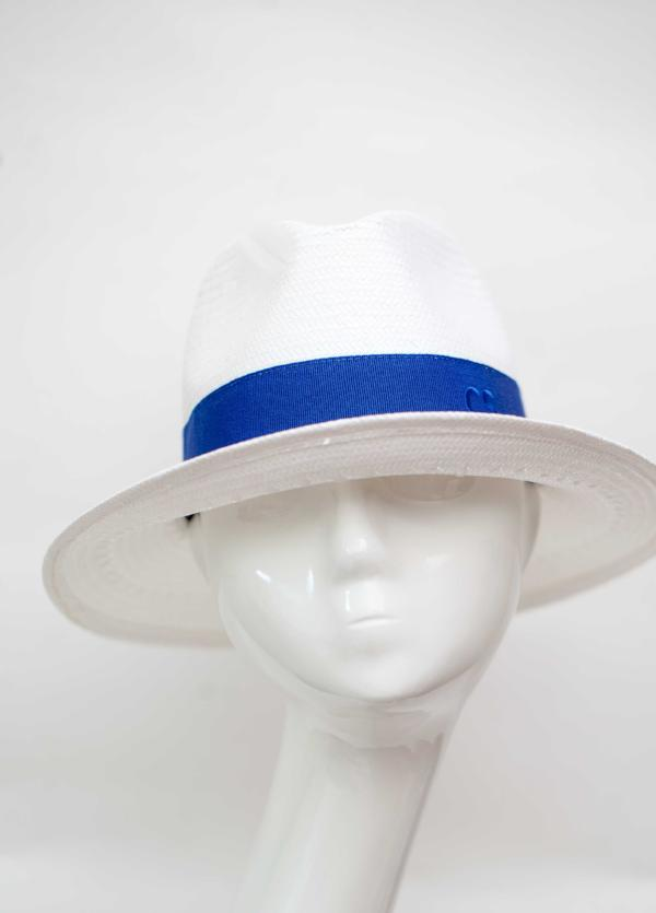 Fedora Hat Made In Italy White Blue Band Packable
