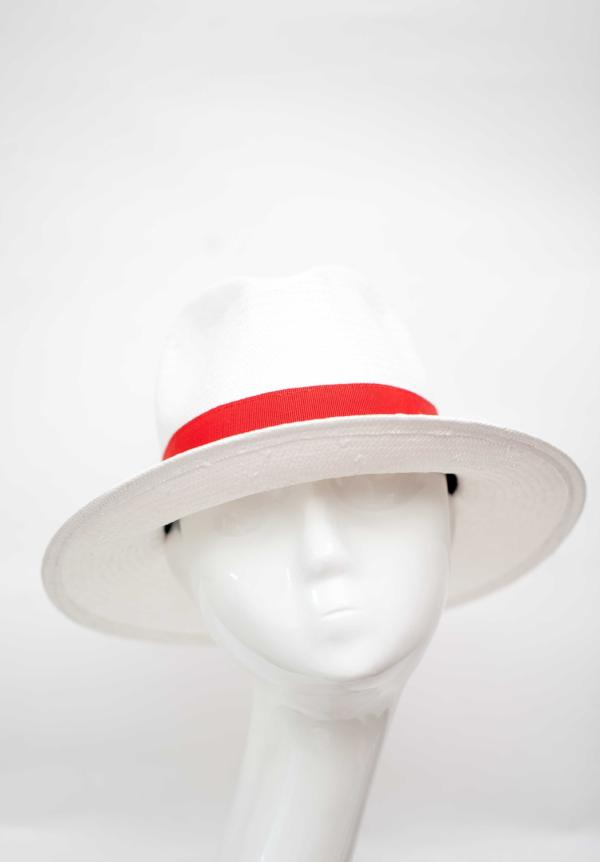 Fedora Hat Made In Italy Withe Red Band Packable