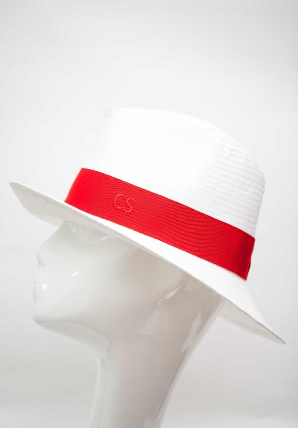 fedora hat made in italy with red band packable