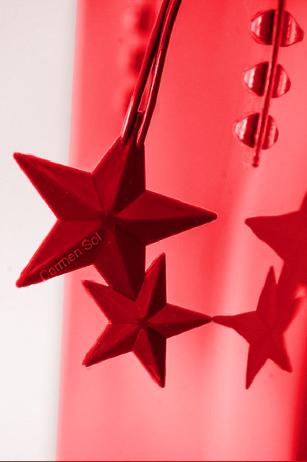 Red Jelly Bag Charm star rose scented falling star