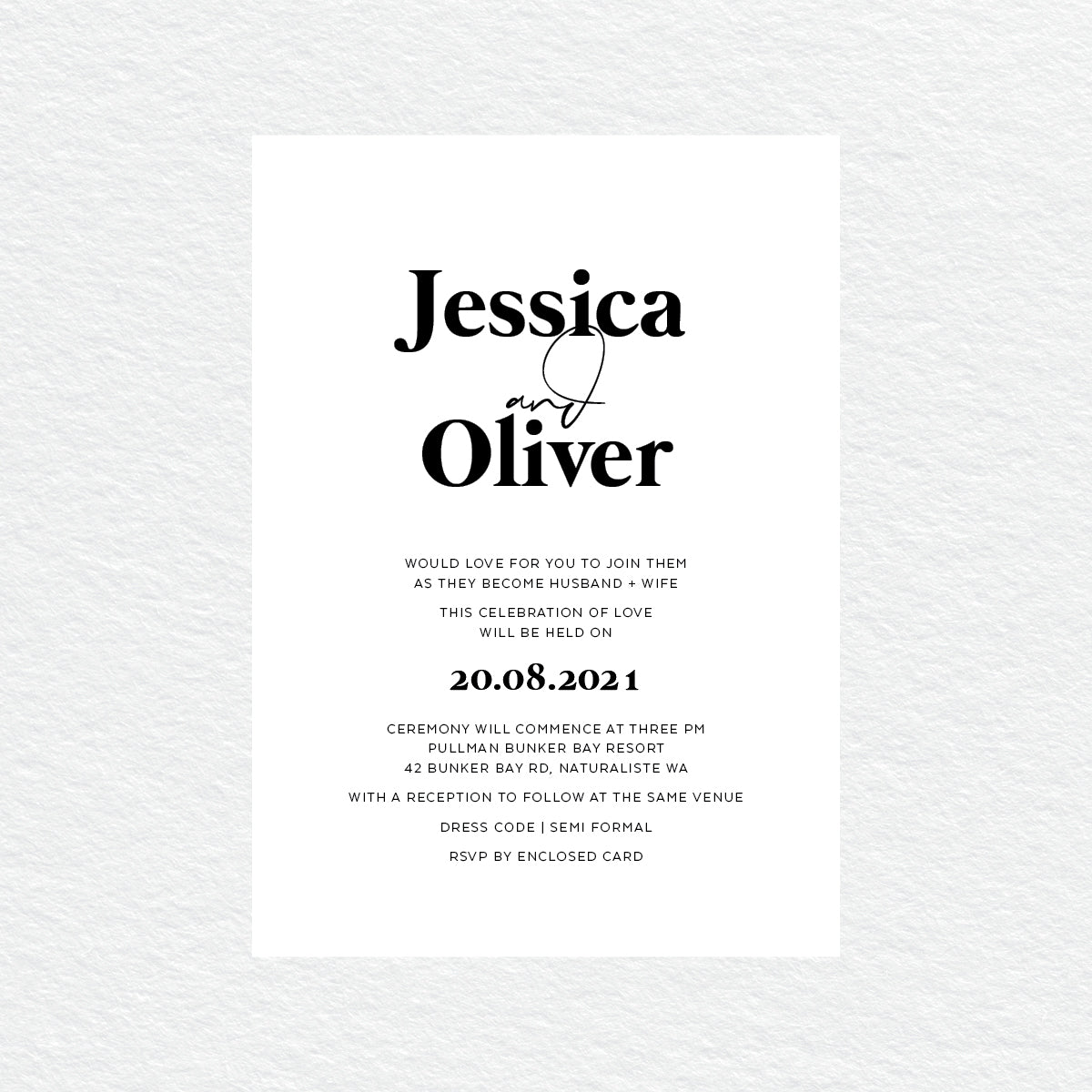 Always Together Rectangle Invitation