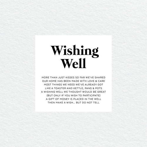 Always Together Wishing Well Card