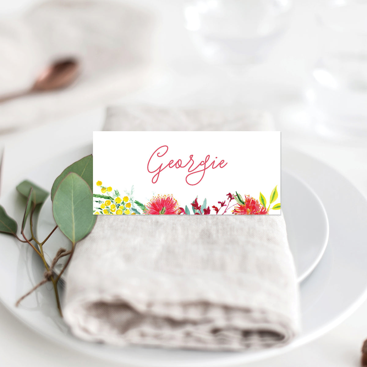Australiana Placecard