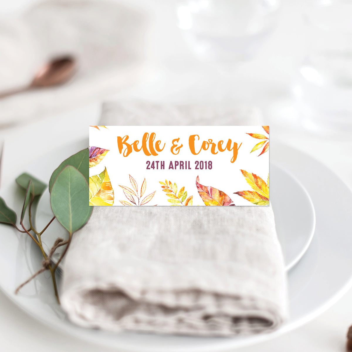 Autumn Vibes Placecard