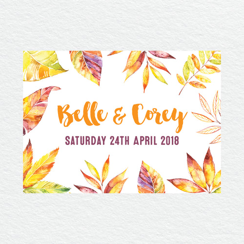 Autumn Vibes RSVP Card