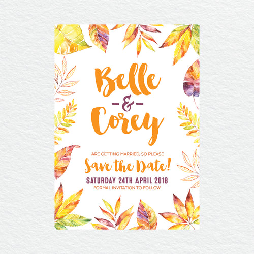 Autumn Vibes Save the Date Card
