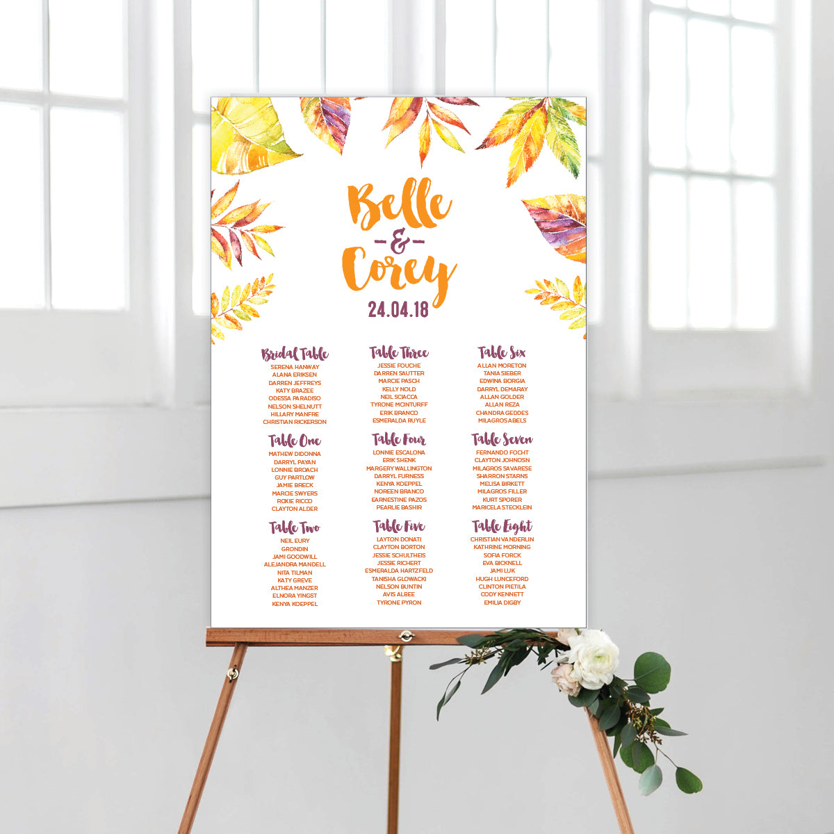 Autumn Vibes Seating Chart
