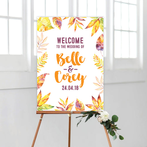Autumn Vibes Welcome Sign