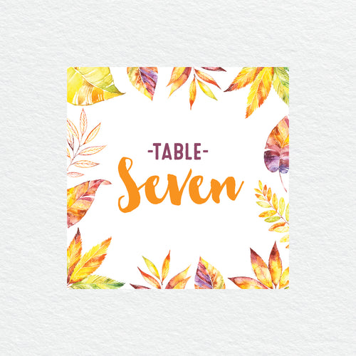Autumn Vibes Table Numbers