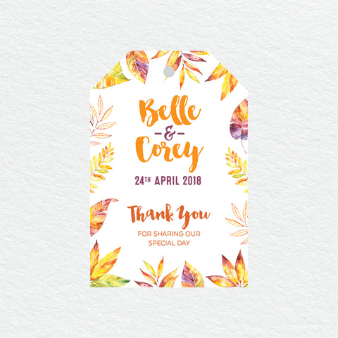 Autumn Vibes Foil Invitation