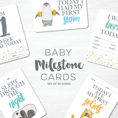 Value Pack - Baby + Toddler Milestone Cards