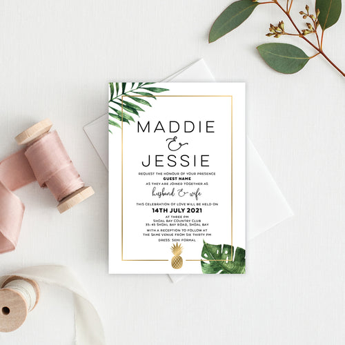 Beverly Hills Rectangle Invitation